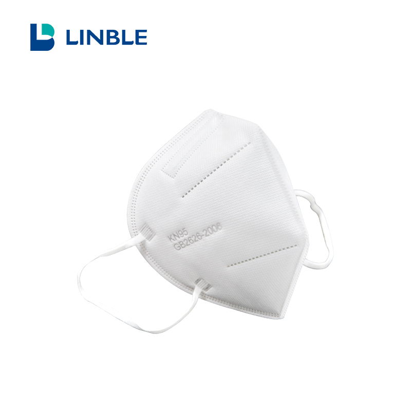 Disposable KN95 Antiviral Face Mask with Earloop for Flu Protection